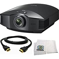 Sony VPL-HW65ES Full HD SXRD Home Theater Projector + HDMI Cable + Microfiber Cleaning Cloth