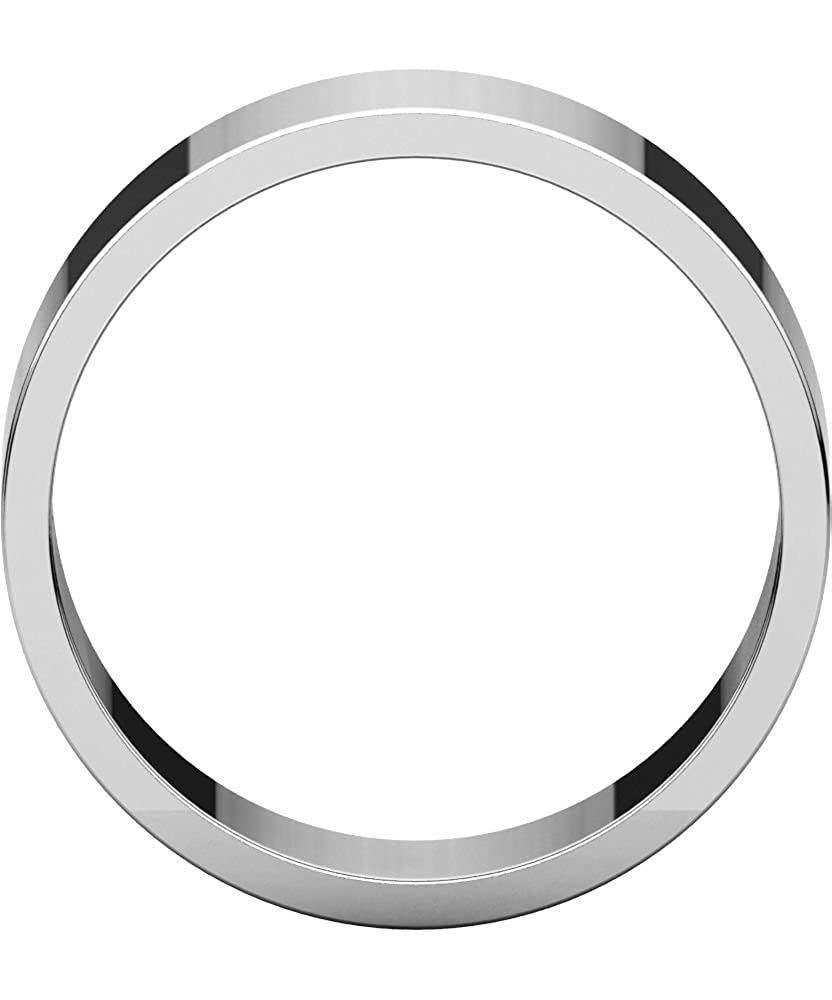 Sterling Silver 7mm Flat Wedding Band for Men Size 10