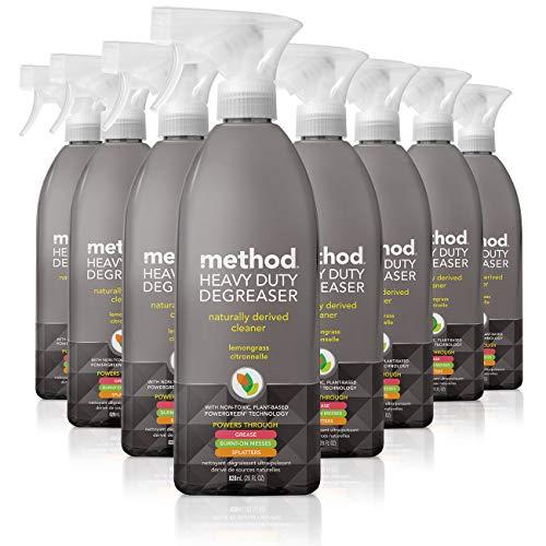 Method Heavy Duty Degreaser, Oven Cleaner and Stove Top Cleaner, Lemongrass, 28 Fl Oz, Pack of 8