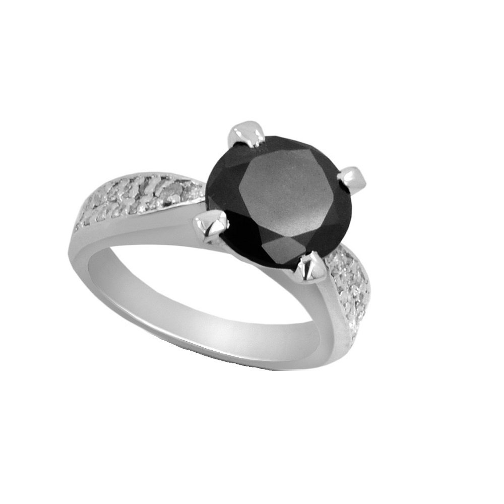 Designer 4.05 Ct Diamond Silver Ring with Diamond Accents Gift for Valentine's Day