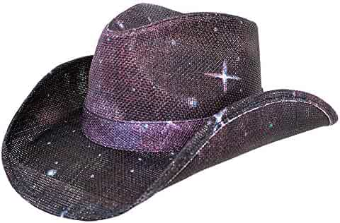 f0003f1b Peter Grimm New Pocket Lined Space Drifter Cowboy Western Hat Paper Straw