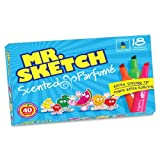 Mr. Sketch Scented Markers, Chisel-Tip, Set of 18, Assorted Colors (20071)