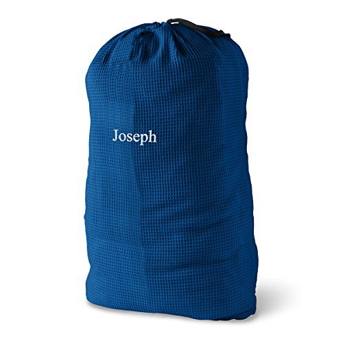 Personalized Laundry Bag - Personalized Waffle Knit Laundry Bags - Monogrammed Laundry Bags - Navy Laundry Bag