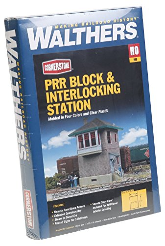 Walthers Cornerstone HO Scale PRR Block and Interlock Station Kit ()