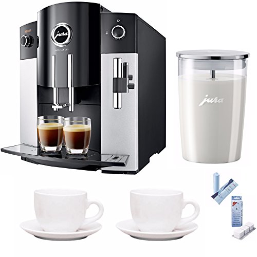 Jura IMPRESSA C65 Automatic Coffee Machine + Jura Milk Container, Decalcifying Tablets and More…
