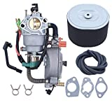 Manual Choke Dual Fuel Carburetor Air Filter Gasket Kit For HONDA GX390 Chinese 188F 190F 13HP 4KW 5KW Gasoline Engine Generator