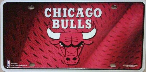 Chicago Bulls Novelty Metal License Plate LP-1046