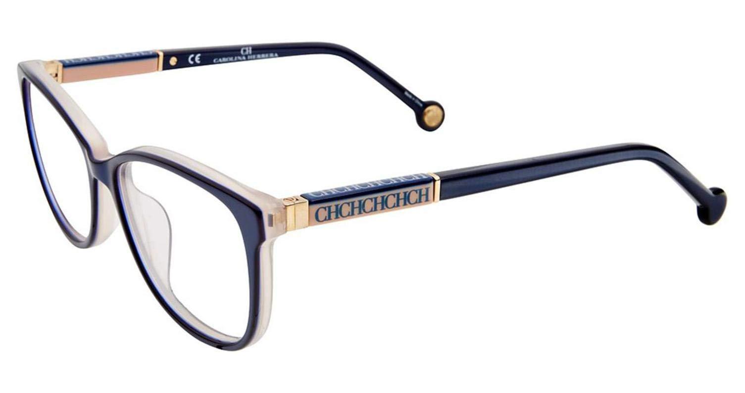 Carolina Herrera Designer Eyeglasses VHE734K-09MF in Blue 50mm DEMO LENS