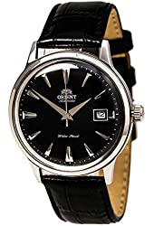 Orient ER24004B Men's Bambino Automatic Black Dial Black Leather Strap Mechanical Watch