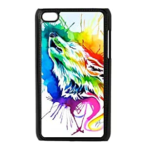 Wolf Totem Art Pictures PC Hard Plastic phone Case Cover FOR IPod Touch 4 ZDI017672