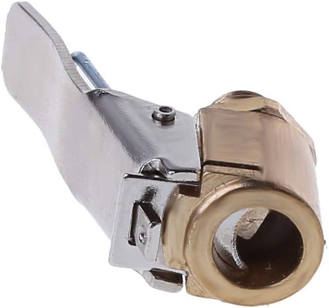 FXCO 1 St/ück Auto aus Messing Luftbohrfutter Reifen-Reifen Ventilclip Inflator Ventil Stecker 8 mm Adapter Aufblaspumpe