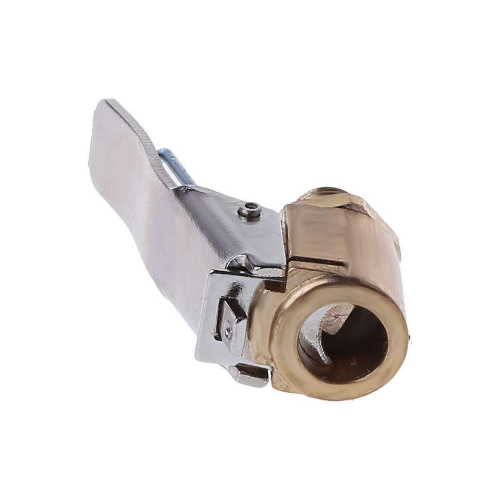 adaptador de clip de abrazadera para coche v/álvula de inflado de neum/áticos 1 pieza de lat/ón de 8 mm para inflador de neum/áticos