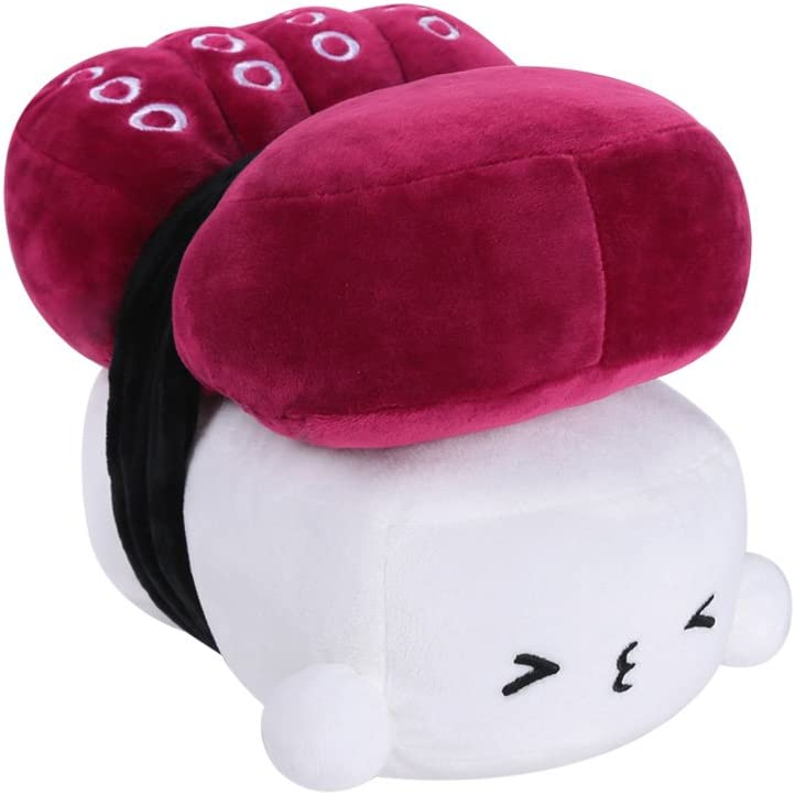 "Choba Food Plush Cushion Pillow 20cm(8.0"") Octopus Medium Purple"