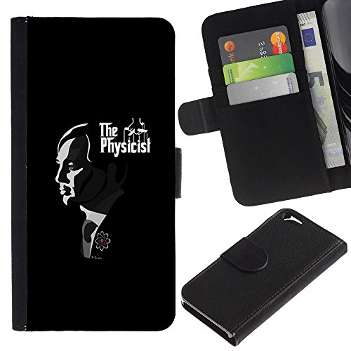 UberTech / Apple Iphone 6 4.7 / Black Father God Movies Famous / Cuir PU Portefeuille Coverture Shell Armure Coque Coq Cas Etui Housse Case Cover Wallet Credit Card