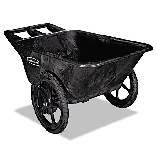 Rubbermaid Commercial Products FG564200BLA Plastic Yard Cart, 7.5 cu. feet For Sale