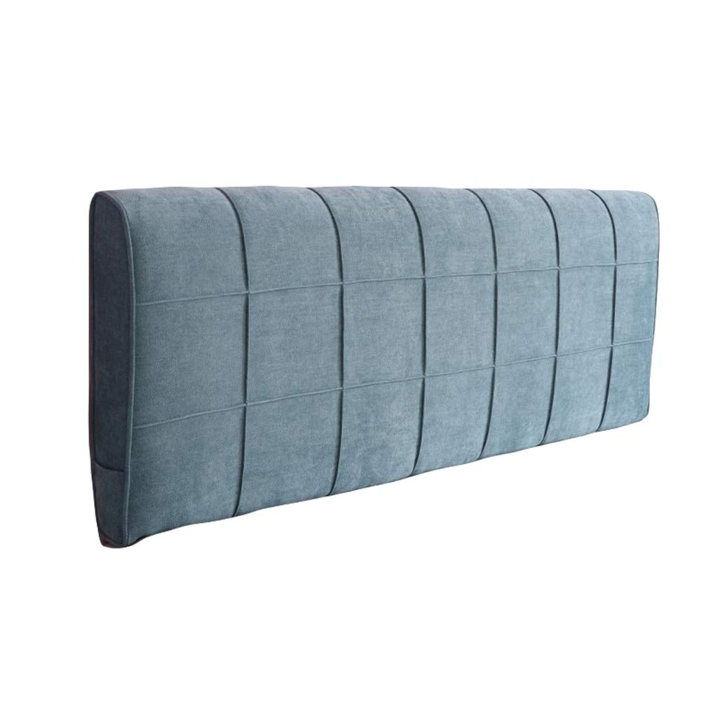 BZXLKD01 Chenille Headboard Cushion Triangular Headboard Backrest Large Wedge Bedside Back Cushion Washable Soft Upholstered (Color : Grey Blue, Size : 200cm/78.7in) by BZXLKD01