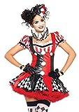 Leg Avenue Womens 3 Piece Harlequin Clown Costume