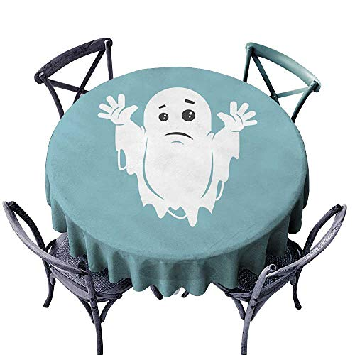 Onefzc Spill-Proof Table Cover Illustration of a sad Ghost for Banquet Decoration Dining Table Cover 47