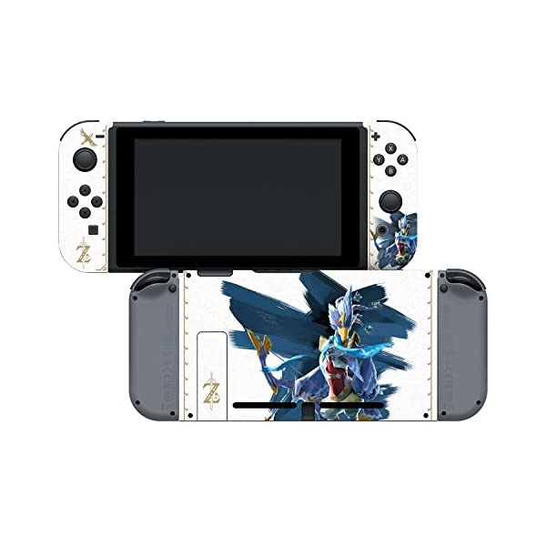 """Controller Gear Nintendo Switch Skin & Screen Protector Set Officially Licensed By Nintendo - The Legend of Zelda: Breath of the Wild: """"Revali White Pattern"""" - Nintendo Switch 4"""
