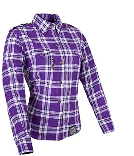 Speed and Strength Women's Smokin' Aces Purple/White Flannel Jacket, M
