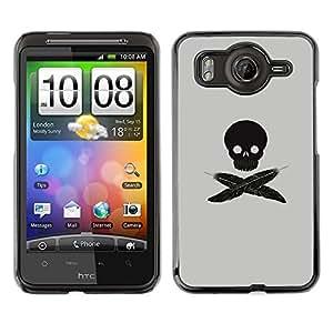 Cubierta protectora del caso de Shell Plástico    HTC G10    Minimalista pluma del cráneo de la bandera pirata @XPTECH