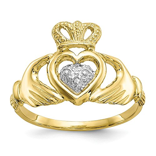 10k Yellow Gold Irish Claddagh Celtic Knot Band Ring Size 6.00 Fine Jewelry Gifts For Women For Her