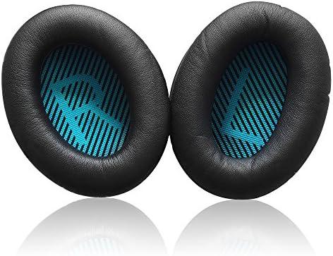 XCSOURCE® Reemplazo Oreja almohadillas cojín Cubierta de la Copa del Oído Negro Para Bose QC2 QC15 AE2 QC25 Auriculares TH565