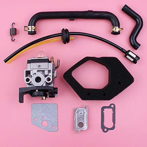 Laliva Carburetor Air Filter Fuel Oil Breather Outlet Valve Plate Hose Tube Kit For Honda GX25 GX25N HHT25S Lawn Mower Engine Part ()
