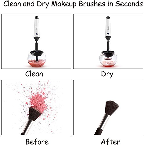 Makeup Brush Cleaner, Voluex Rechargeable Electric Makeup Brush Cleaner and Dryer Machine with USB Charging Station, Clean and Dry All Sizes Makeup Brushes in Seconds
