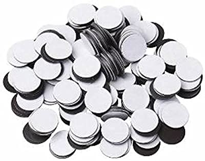 "50 Round Self Adhesive Magnetic Circles .5"" Diameter 4 mil Magnets Arts and Crafts School Magnet Dot Tape New Cute Self-adhesive Roll Craft"