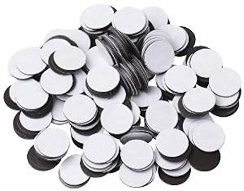 (250 Round Self Adhesive Magnetic Circles .5