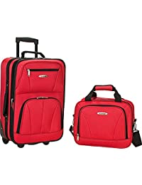 2 PC RED LUGGAGE SET