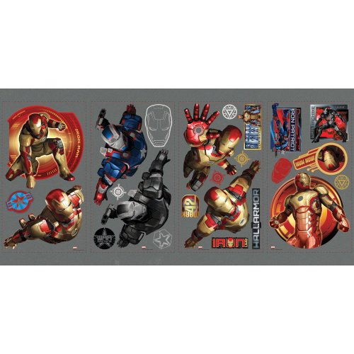 RoomMates RMK2139SCS Iron Man 3 Peel and Stick Wall Decals