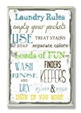The Stupell Home Decor Collection Laundry Rules Typography Bathroom Wall Plaque