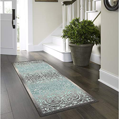 (Maples Rugs AG4055702 Pelham 2' x 6' Non Skid Hallway Carpet Entry Rugs Runners [Made in USA] for Kitchen and Entryway,)