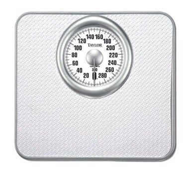Taylor Analog Bath Scale Solid Steel Base White