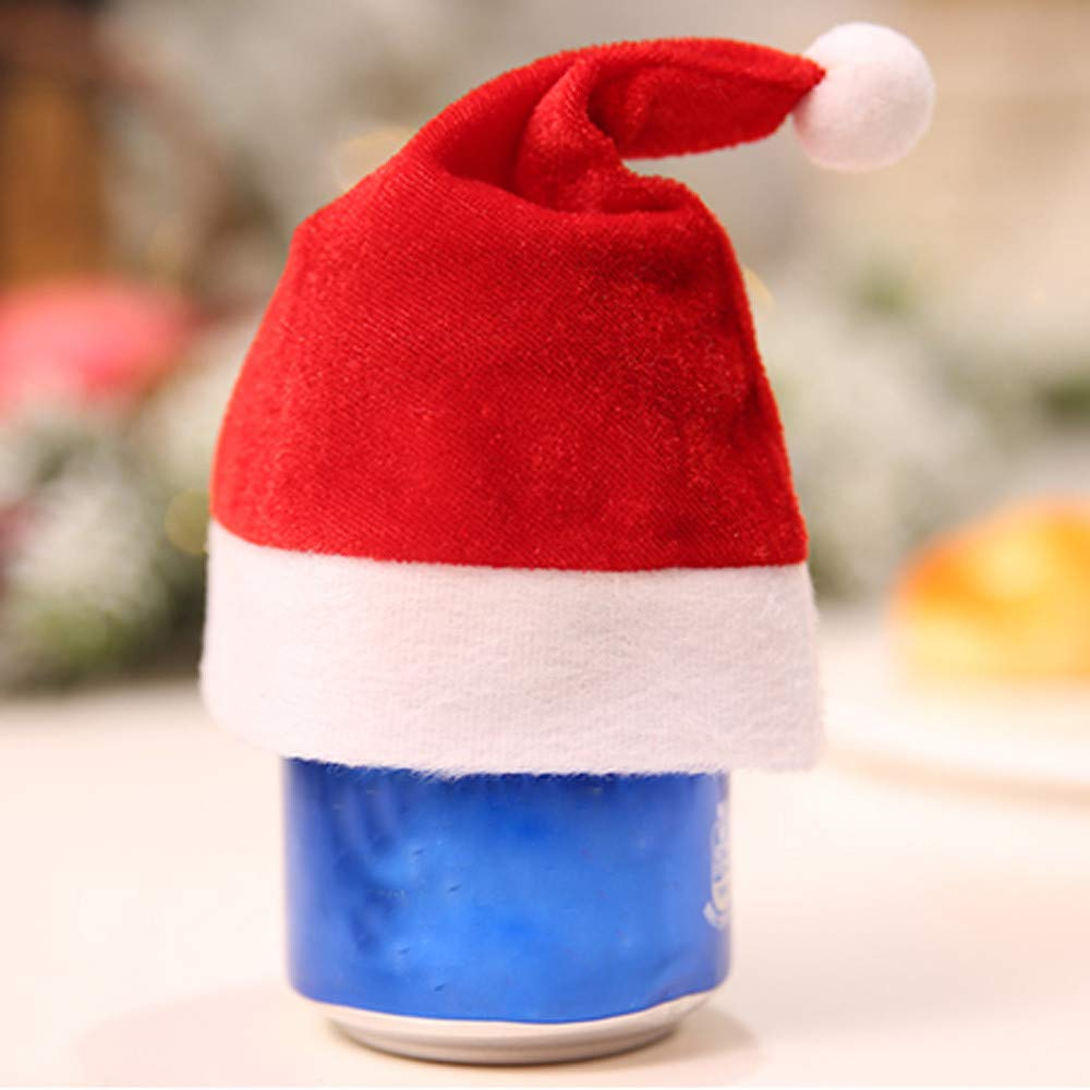 Lovewe Mini Christmas Hat,Mini Christmas Apple Wine Bottle Caps,Santa Claus Hat Table Home Xmas Gift(1/6Pc) (1Pc) by Lovewe_Christmas Decor (Image #3)