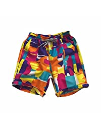 Men's Fashion Printed Elastic Waist Beach Shorts
