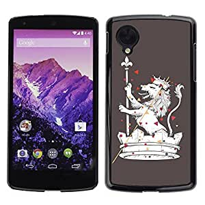 YOYO Slim PC / Aluminium Case Cover Armor Shell Portection //The Majestic Royal Lion //LG Google Nexus 5