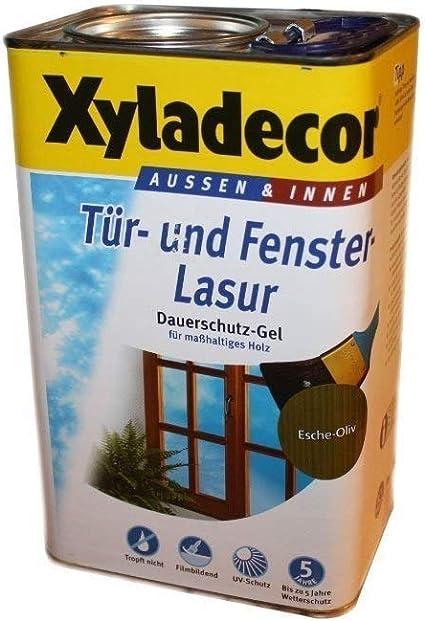 Xyladecor Barniz para puertas y ventanas (5 L), color verde ...
