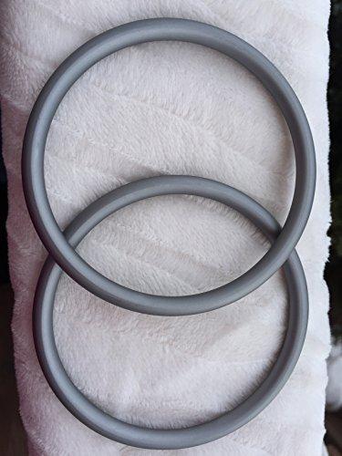 Large Pair of Slate Aluminum Sling Rings For Sale