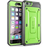 iPhone 6s Plus Case, SUPCASE Belt Clip Holster Apple iPhone 6 Plus Case 5.5 Inch [Unicorn Beetle Pro] w/ Built-in Screen Protector (Green/Gray)