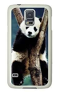 White Fashion Case for Samsung Galaxy S5,PC Case Cover for Samsung Galaxy S5 with Cute Panada