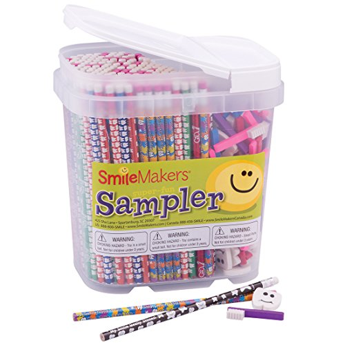 Dental Pencil & Eraser Sampler-Prizes and Giveaways-400 per Pack (Pencil Sampler)