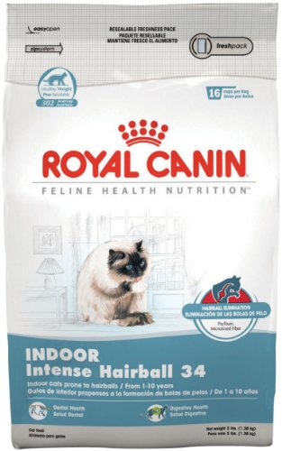 ROYAL CANIN FELINE HEALTH NUTRITION Indoor INTENSE HAIRBALL 34 dry cat food, 15-Pound