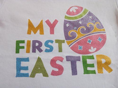 AISHIONY 4PCS Baby Girl Newborn My 1st Easter Egg Tutu Onesie Outfit Skirt Dress