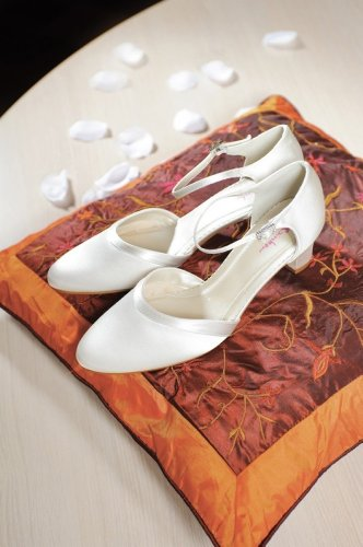 Elsa Shoes Scarpe Coloured Wei col Avorio donna tacco White Bianco qqT4Z