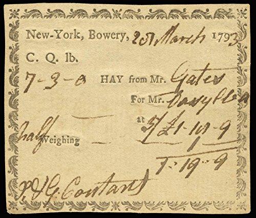 Major General Horatio Gates - Receipt Signed 03/25/1793