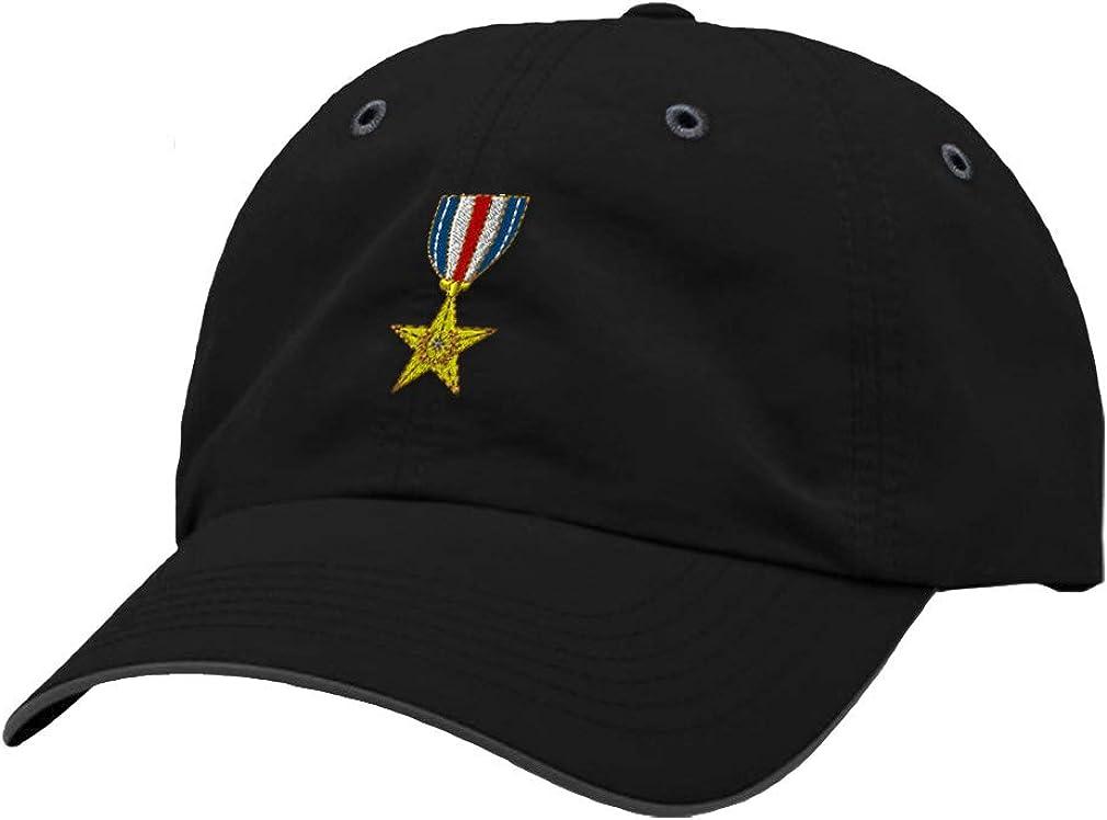 Custom Richardson Running Cap Silver Star Embroidery Veteran Name Polyester Hat