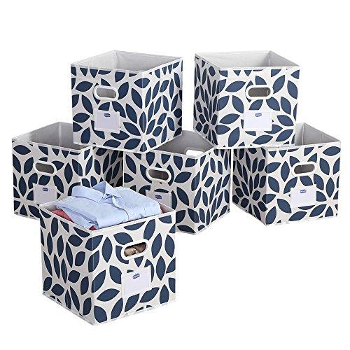 Foldable Cloth Storage Bins Basket Durable Fabric Drawer Organizers, 12